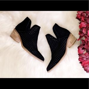 STEVEN By Steve Madden Perforated Suede Bootie